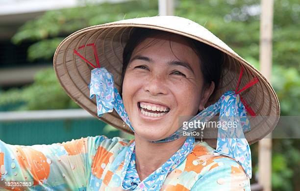 Vietnam, floating market, near Can Tho.
