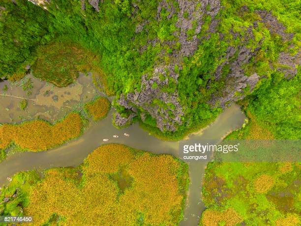 Vietnam from above, Ninh Binh, Hoa Lu