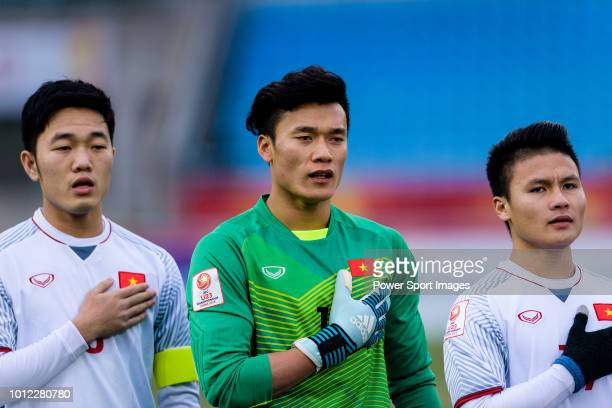 Vietnam goalkeeper Bui Tien Dung during the AFC U23 Championship China 2018 Semi Finals match between Qatar and Vietnam at Changzhou Olympic Sports...