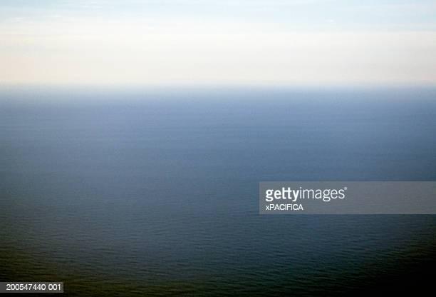 Vietnam, Halong Bay, deep blue ocean and horizon