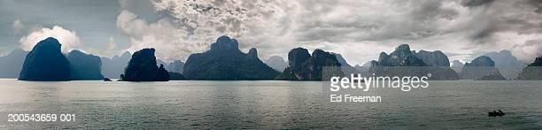 Vietnam, Halong Bay, (Digital Composite panorama)