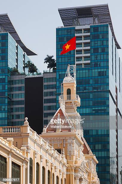 vietnam, ho chi minh city, exterior - people's committee building ho chi minh city stock pictures, royalty-free photos & images