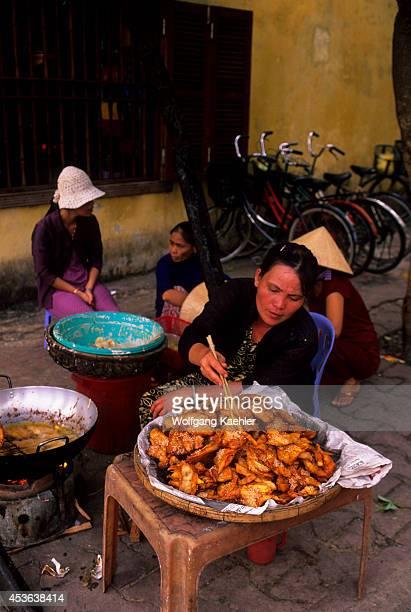 Vietnam Hoi An Street Scene Kitchen Woman Preparing Food