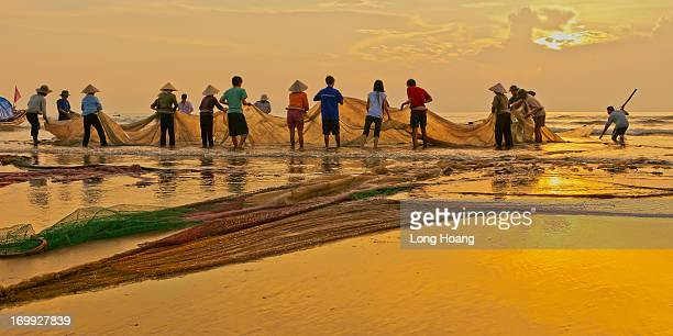Vietnam images - Seascape-Landscape - Nature - Fishing - working people - Thanh Hoa - teamwork