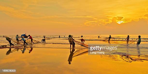 Vietnam images - Seascape-Landscape - Nature - Fishing - working people - Thanh Hoa - Fishing village.