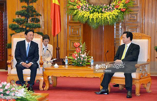 HANOI Vietnam Keiji Furuya Japan's state minister in charge of the issue of North Korea's abductions of Japanese nationals holds talks with...