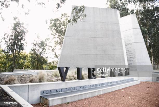 Vietnam Memorial commemorating Australian soldiers who fought and died during the Vietnam War Canberra Australian Capital Territory Australia