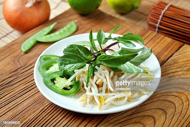 vietnam side dish - pho soup stock pictures, royalty-free photos & images