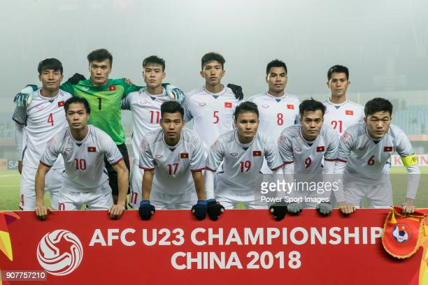 Vietnam squad poses for photos prior the AFC U23 Championship China 2018 Group D match between Syria and Vietnam at Changshu Sports Center on 17...