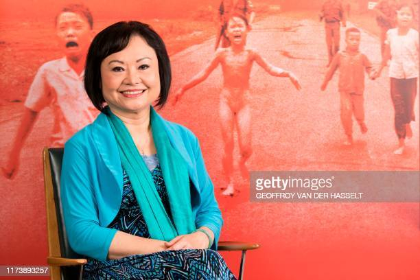 Vietnam war icon Kim Phuc Phan Thi poses at the Unesco headquarters in Paris on October 4 2019 47 years after making the international media...
