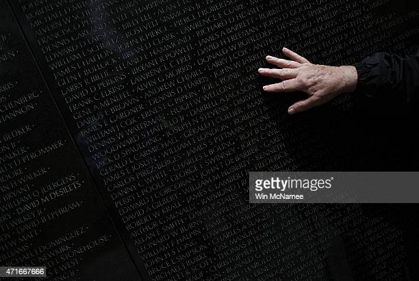 Vietnam war veteran Steve Moczary who served two tours during the war searches for the name of his friend Msgt Cecil Hodgson at the Vietnam Veterans...
