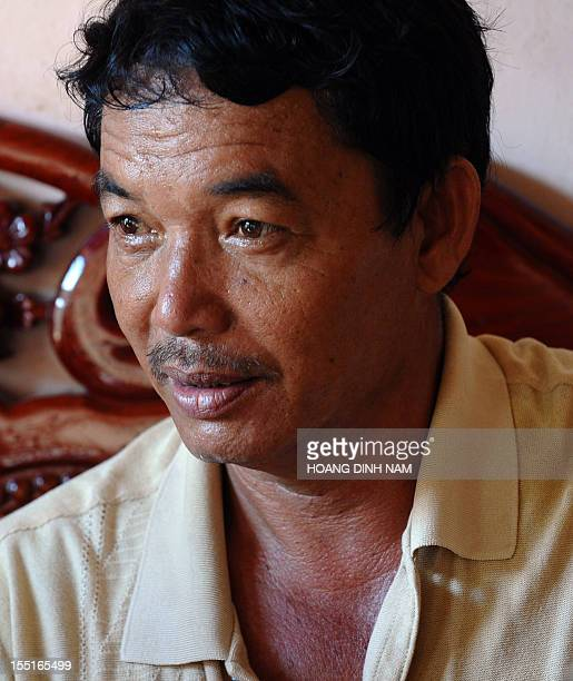 VietnamChinaAsiadiplomacyfishingFEATURE by Cat Barton This photo taken on August 10 2012 shows fisherman Le Khuan talking during an interview with...