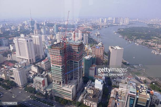 VietnameconomypropertyFEATURE by Ian TIMBERLAKE This picture taken on April 12 2011 shows an aerial view of a central part of Ho Chi Minh city next...