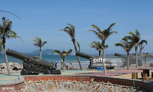 """Vietnam-energy-oil-resources-development, by Peter Stebbings Workers work at a newly developped coastal tourist site named """"Thien Duong"""" or..."""