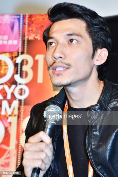 Vietnamese actor Lien Binh Phat attends a press conference of film 'The Tap Box' at Toho Cinemas during the 31st Tokyo International Film Festival on...