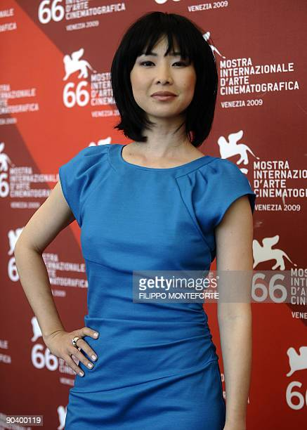 """Vietnamese actress Linh-Dan Pham poses during the photocall of """"Choi Voi"""" at the Venice film festival on September 1, 2009. """"Choi Voi"""" is competing..."""