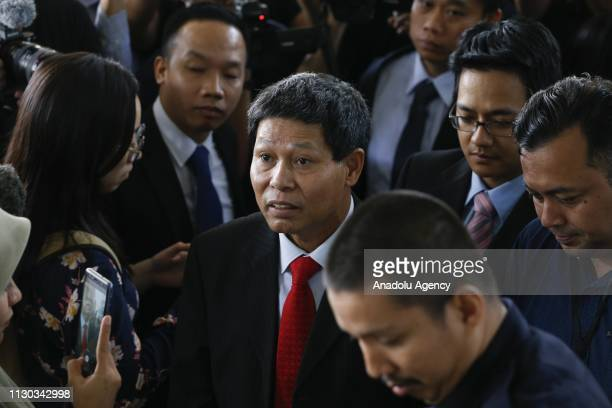 Vietnamese Ambassador to Malaysia Le Quy Quyh arrives at the Shah Alam High Court to give support to Vietnamese Doan Thi Huong of her alleged role in...