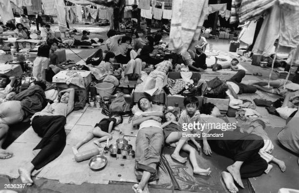 Vietnamese boat people in the Hong Kong Government Dock yard