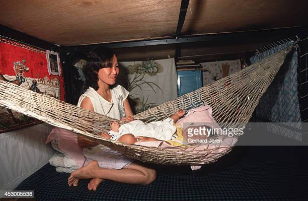 Vietnamese boat refugees at a camp on an island in Hong Kong More than 200000 Vietnamese refugees arrived by boatload in Hong Kong during the late...
