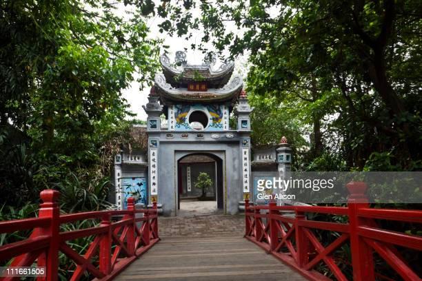 Vietnamese bridge and pagoda entrance
