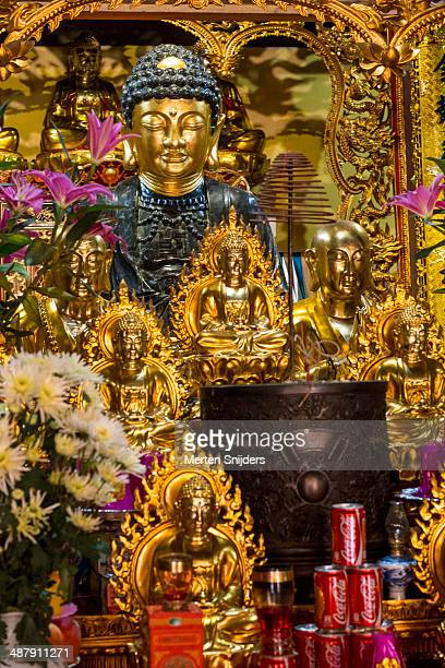Vietnamese Buddhistic shrine with statues