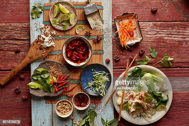 vietnamese chicken and rice - asian food stock pictures, royalty-free photos & images