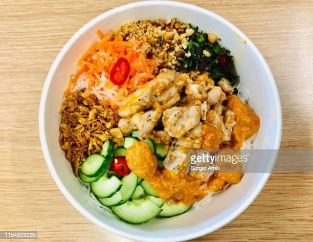 Vietnamese chicken satay salad