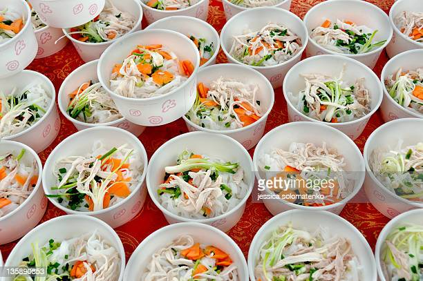 vietnamese chicken soup - chicken soup stock photos and pictures