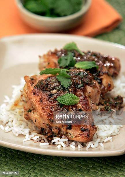 Vietnamese Chicken–Pan Fried Spicy Chicken with Mint and Ginger