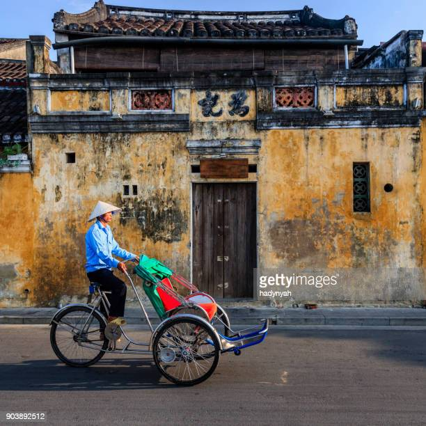 Vietnamese cycle rickshaw in old town in Hoi An city, Vietnam