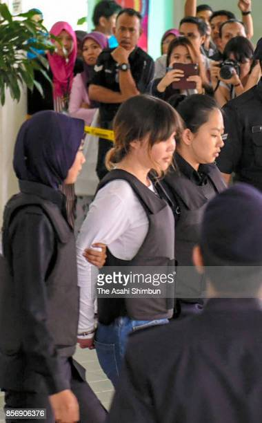 Vietnamese Doan Thi Huong leaves the Shah Alam court house on October 2 2017 in Kuala Lumpur Malaysia Court hearing begins for murdered Kim Jongnam...
