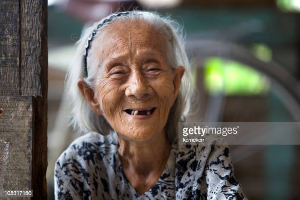 vietnamese elderly woman - rotten teeth stock photos and pictures