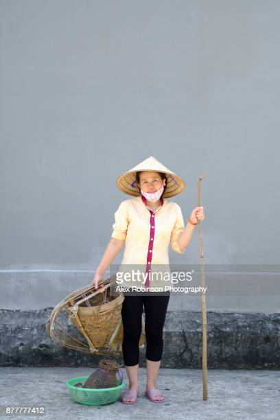 Vietnamese fisher woman