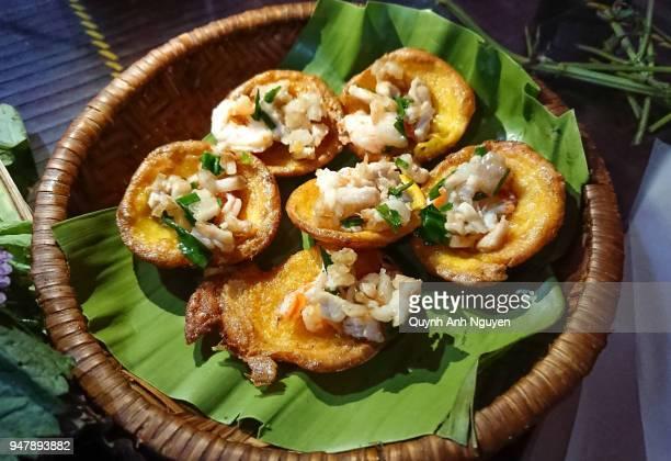 Vietnamese food: fried pancake Banh Khoai