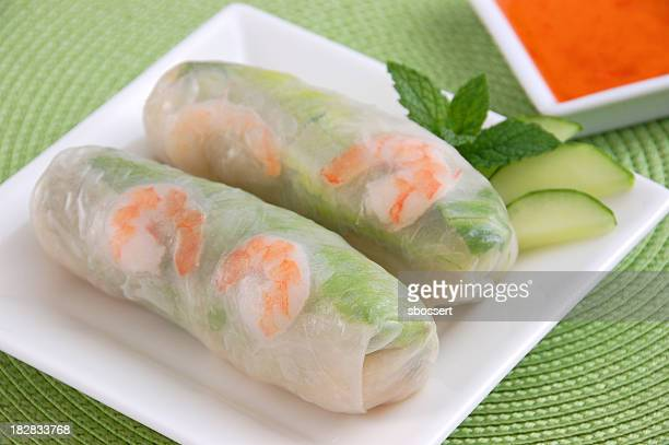 vietnamese fresh spring rolls - traditionally vietnamese stock pictures, royalty-free photos & images