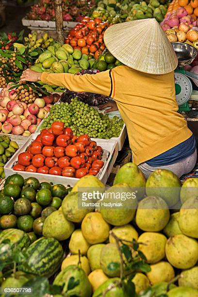 Vietnamese fruit seller