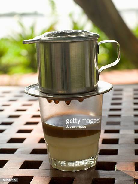 Vietnamese iced coffee with milk
