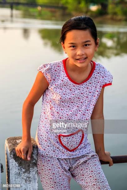 Vietnamese little girl, Mekong River Delta, Vietnam