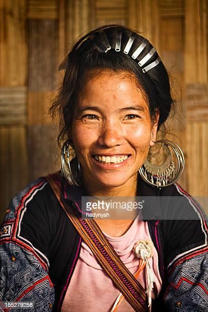 vietnamita minoria pessoas-mulher de preto hmong hill tribo - tribo asiática - fotografias e filmes do acervo