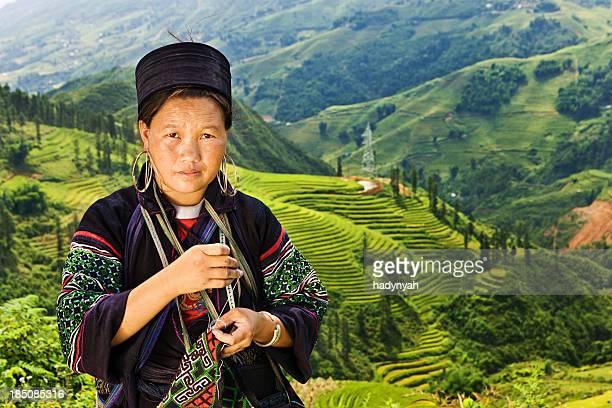 ベトナム人の女性から少数民族ブラック Hmong 山岳民族