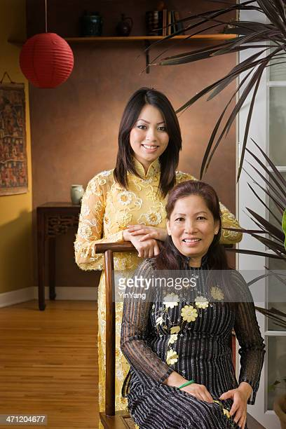 Vietnamese Mother & Daugther at Home Vt