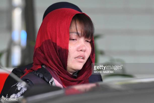 Vietnamese national Doan Thi Huong boards a car after appearing at the Shah Alam High Court outside Kuala Lumpur on March 14 2019 A Vietnamese woman...
