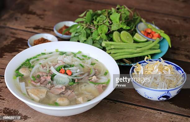 Vietnamese noodle soup, Pho in Vientiane