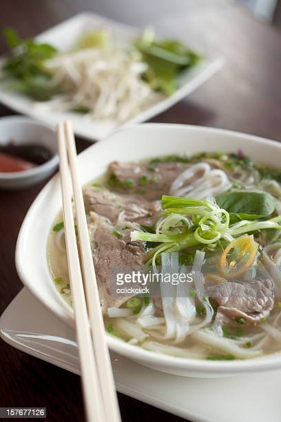 vietnamese pho noodles - vietnamese culture stock pictures, royalty-free photos & images
