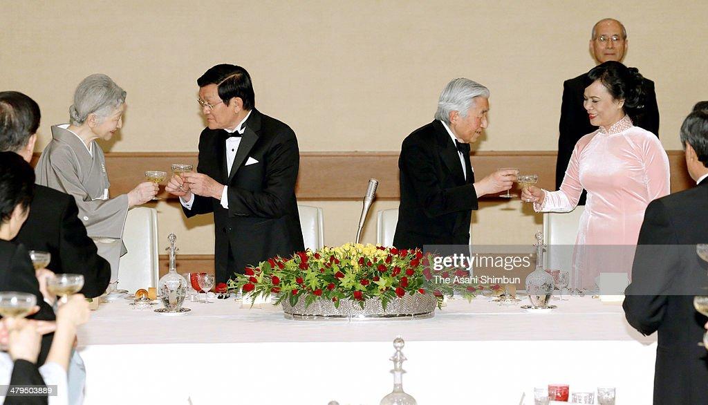 Vietnamese President Truong Tan Sang Visits Japan : News Photo