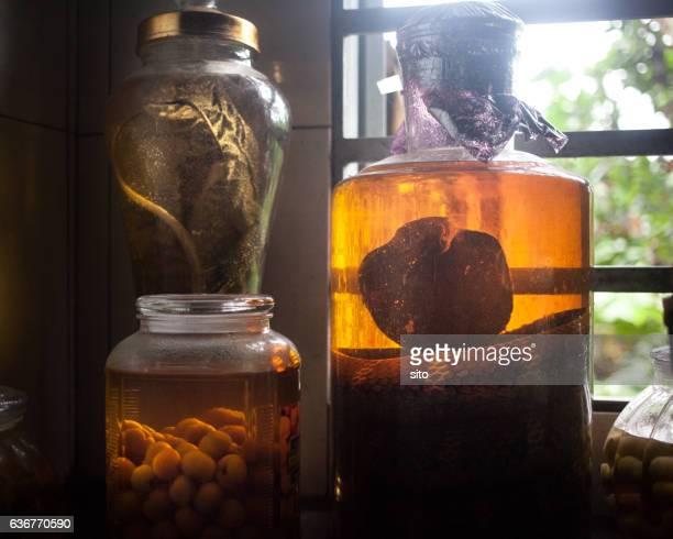 Vietnamese rice wine with animals inside
