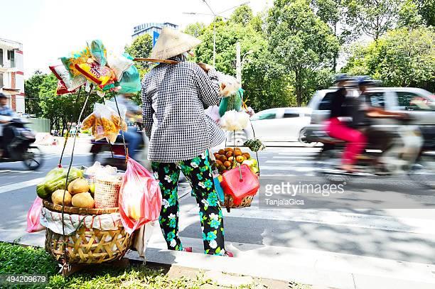 Vietnamesische saleswoman