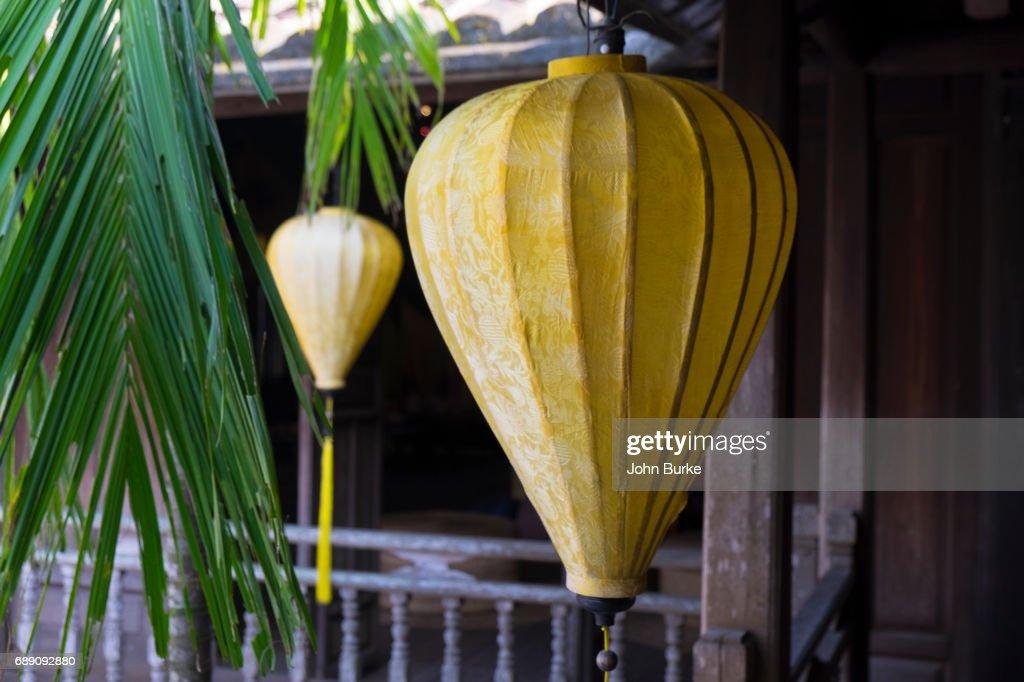 Vietnamese silk lanterns : Stock Photo