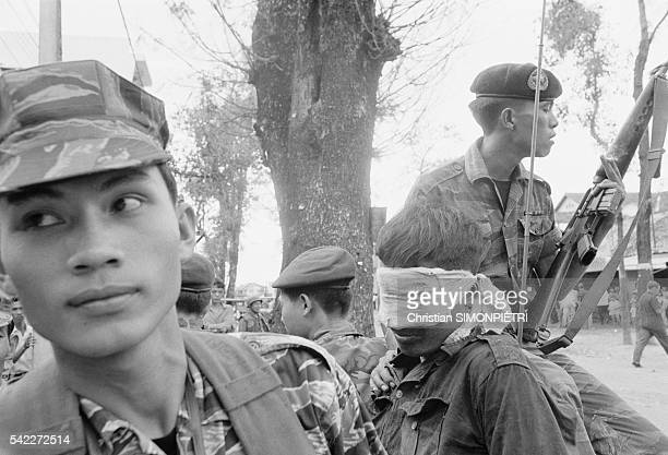 Vietnamese Soldiers Holding Prisoners During Second Offensive on Saigon