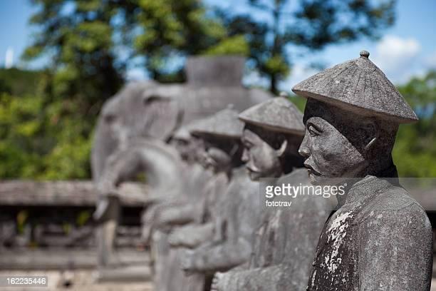 Vietnamese Soldiers statues at Khai Dinh Emperor's Mausoleum, Hue, Vietnam